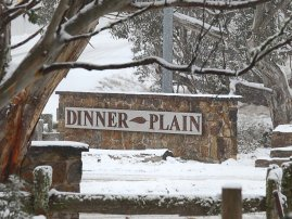Dinner Plain Entry Sign